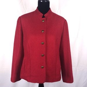 Coldwater Creek Red Blazer Petite